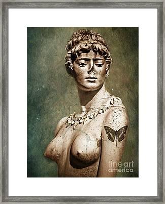 To Spite Her Face Framed Print by Colleen Kammerer