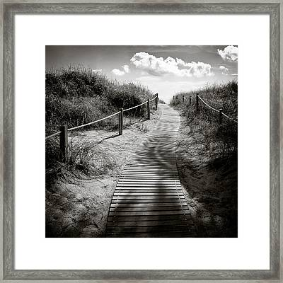 To The Beach Framed Print by Dave Bowman