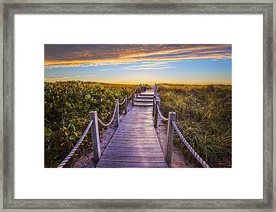 To The Beach Framed Print by Debra and Dave Vanderlaan