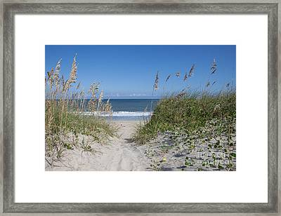 To The Beach Framed Print by Kay Pickens