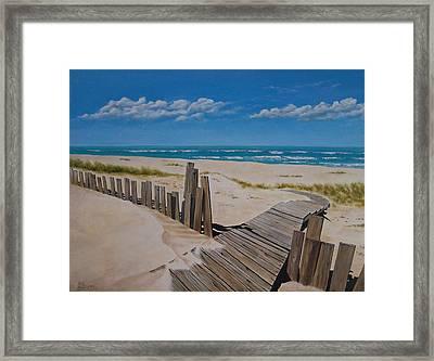 To The Beach Framed Print by Paul Bennett