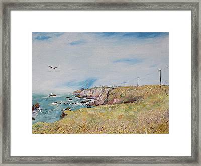 To The Lighthouse  Tribute To Virginia Woolf Framed Print by Asha Carolyn Young