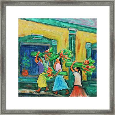 To The Morning Market Framed Print by Xueling Zou