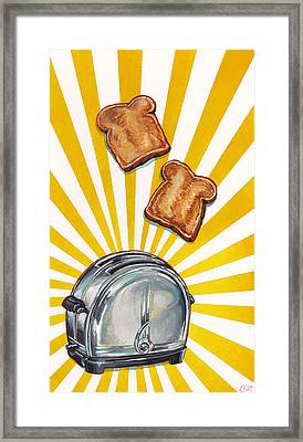 Toast And Toaster Framed Print by Kelly Gilleran