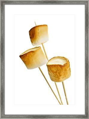 Toasted Marshmallows Framed Print by Elena Elisseeva