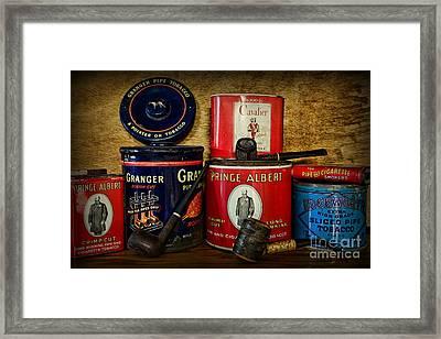 Tobacciana - Tobacco Tins Framed Print by Paul Ward