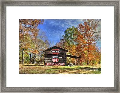 Tobacco Barn Memories Framed Print by Benanne Stiens