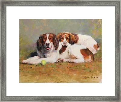 Toby And Ellie Mae Framed Print by Anna Rose Bain