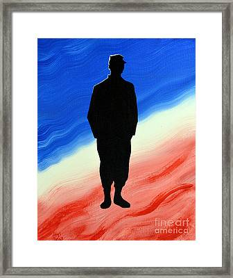 Today's Soldier Framed Print by Alys Caviness-Gober