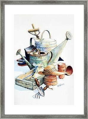Todays Toil Tomorrows Pleasure II Framed Print by Hanne Lore Koehler