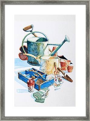 Todays Toil Tomorrows Pleasure IIi Framed Print by Hanne Lore Koehler