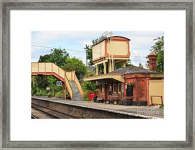 Toddington Railway Station In Gloucestershire Framed Print by Louise Heusinkveld