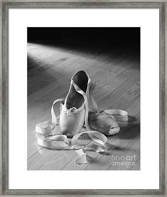 Toe Shoes Framed Print by Tony Cordoza