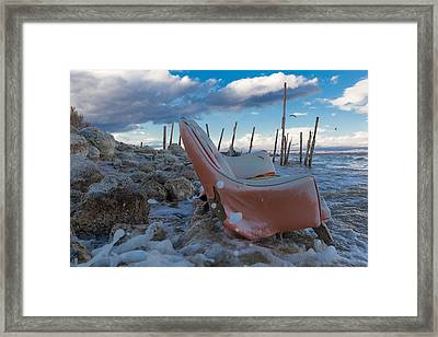 Toes In The Surf Framed Print by Scott Campbell