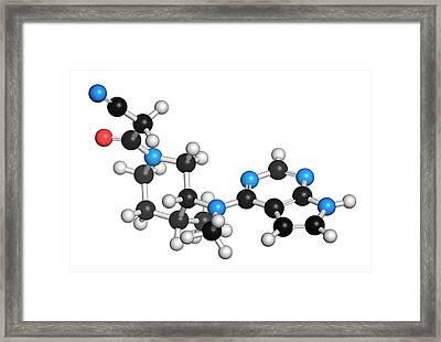 Tofacitinib Rheumatoid Arthritis Drug Framed Print by Molekuul
