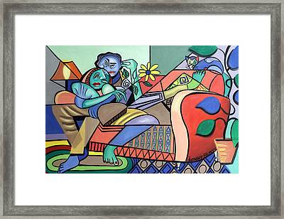 Together Again Framed Print by Anthony Falbo