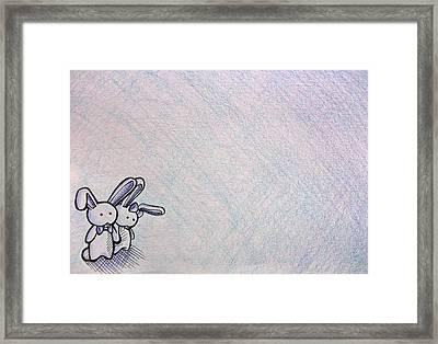 Together In The Middle Of Nowhere Framed Print by Lucy Loo Wales