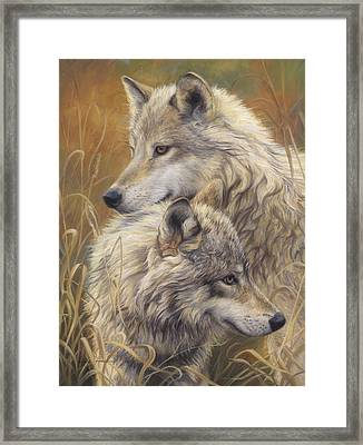 Together Framed Print by Lucie Bilodeau