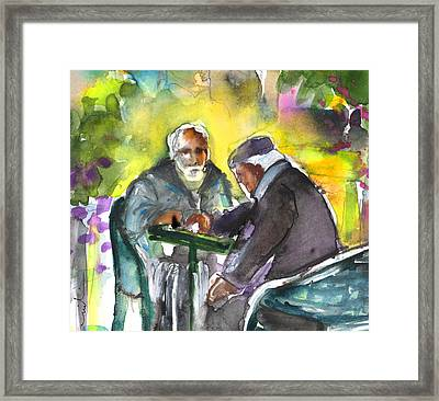 Together Old In Crete 02 Framed Print by Miki De Goodaboom