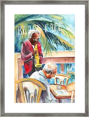 Together Old In Prague Framed Print by Miki De Goodaboom