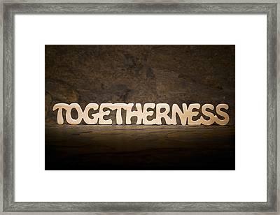 Togetherness Framed Print by Donald  Erickson