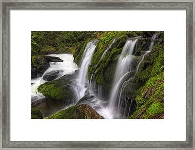 Tokul Creek Cascades Framed Print by Mark Kiver