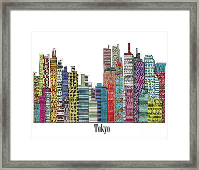 Tokyo City  Framed Print by Bri B