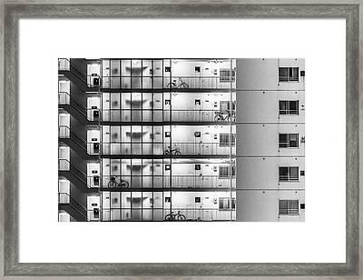 Tokyo - Five Bikes Framed Print by Michael Jurek