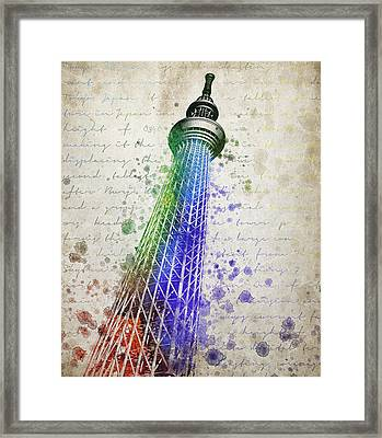 Tokyo Skytree Framed Print by Aged Pixel