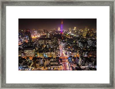 Tokyo Tower - Tokyo - Japan Framed Print by Luciano Mortula
