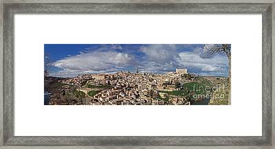 Toledo Old Town Panorama Framed Print by Rudi Prott