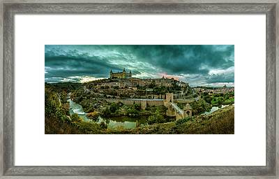 Toledo - The City Of The Three Cultures Framed Print by Pedro Jarque