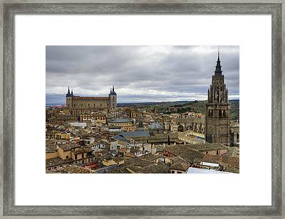 Toledo View Framed Print by Joan Carroll