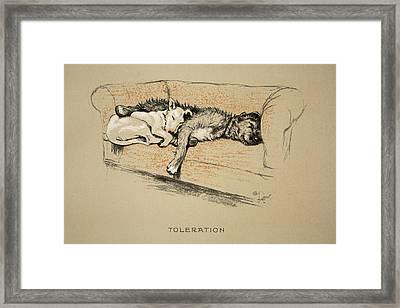 Toleration, 1930, 1st Edition Framed Print by Cecil Charles Windsor Aldin