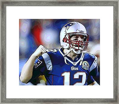 Tom Brady Framed Print by Dan Sproul