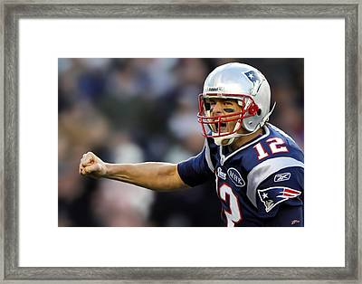 Tom Brady - Portrait Framed Print by Paul Tagliamonte