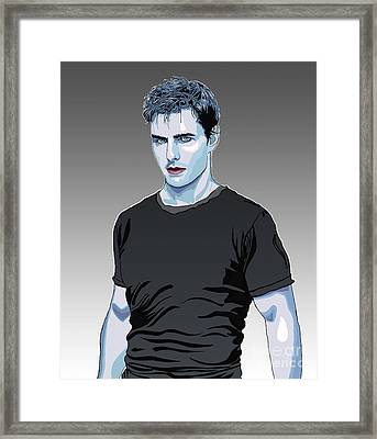 Tom Cruise Drawing Framed Print by Dominique Amendola