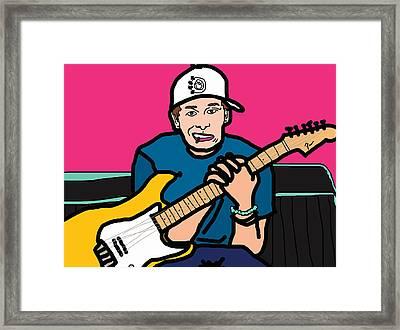 Tom Delonge Framed Print by Jera Sky