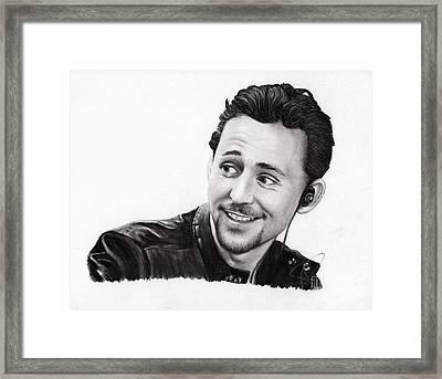 Tom Hiddleston 2 Framed Print by Rosalinda Markle