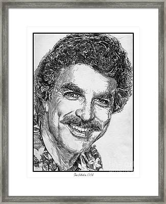 Tom Selleck In 1984 Framed Print by J McCombie