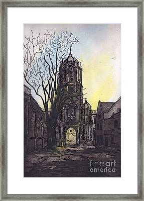 Tom Tower Framed Print by Suzette Broad