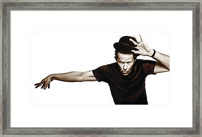 Tom Waits Artwork  4 Framed Print by Sheraz A