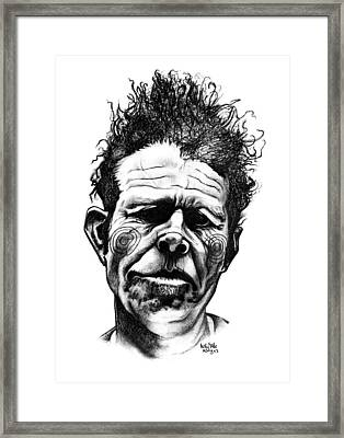 Tom Waits Framed Print by Kelly Jade King