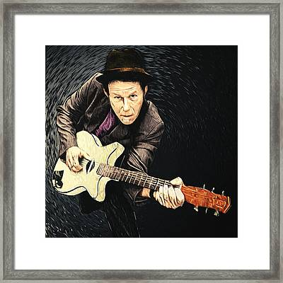 Tom Waits Framed Print by Taylan Soyturk