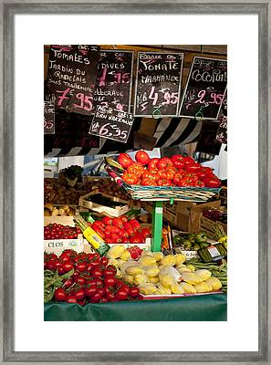 Tomate Framed Print by Art Ferrier