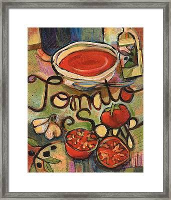 Tomato Soup Recipe Framed Print by Jen Norton