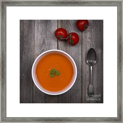 Tomato Soup Vintage Framed Print by Jane Rix