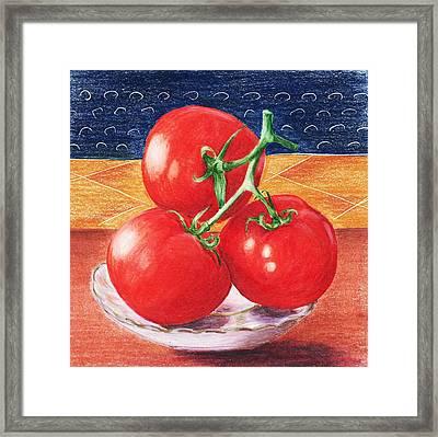 Tomatoes Framed Print by Anastasiya Malakhova