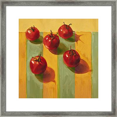 Tomatoes Framed Print by Cathy Locke