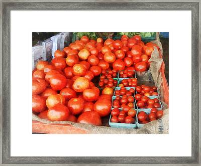 Tomatoes For Sale Framed Print by Susan Savad